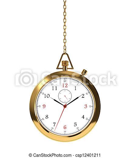 Golden clock - csp12401211