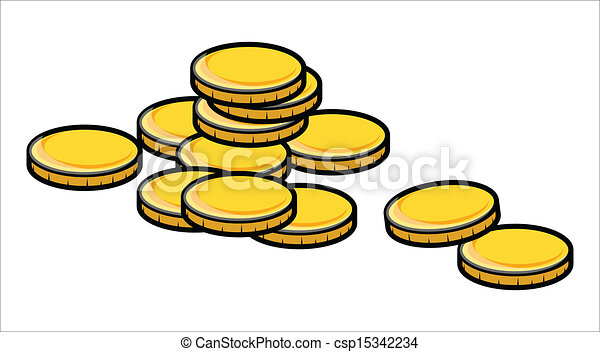golden coins vector illustration drawing art of cartoon rh canstockphoto com coins clipart black and white coin clipart for teachers