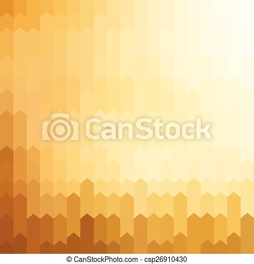 Golden colored arrow pattern background - csp26910430