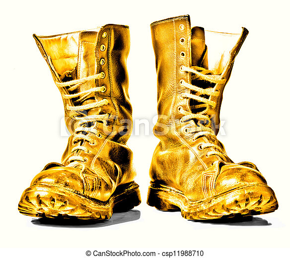 military boots stock photography of golden combat boots golden combat boots