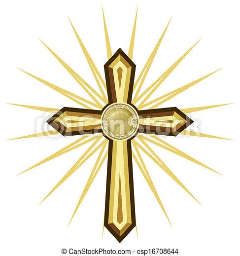 Golden cross - csp16708644