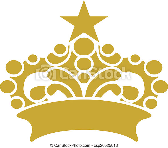 Golden Crown Tiara Vector Clipart  - csp20525018