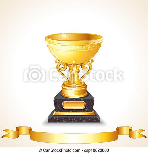 Golden Cup Vector - csp18828880