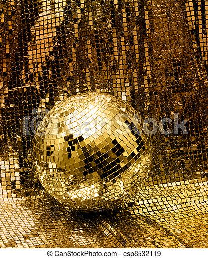 Golden disco mirror ball - csp8532119