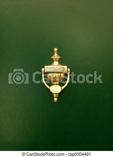 golden door knocker - csp0304491