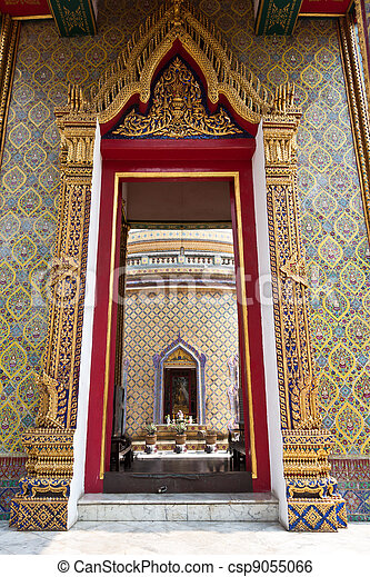 Golden door thai style - csp9055066 & Golden door thai style of temple in bangkok thailand stock image ...