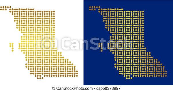Golden Dot British Columbia Province Map