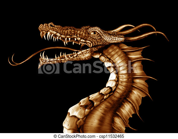 Golden Dragon - csp11532465