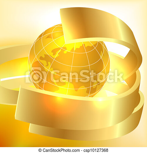 Golden Earth background - csp10127368