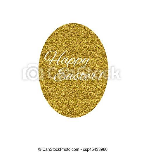 Golden Easter egg - csp45433960