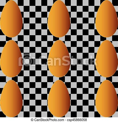 golden easter egg - csp45866058