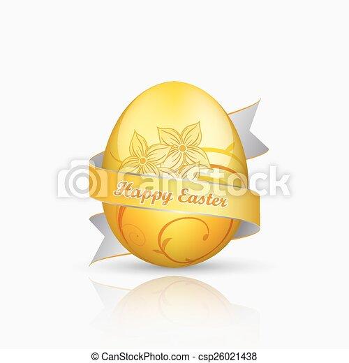 Golden easter egg - csp26021438