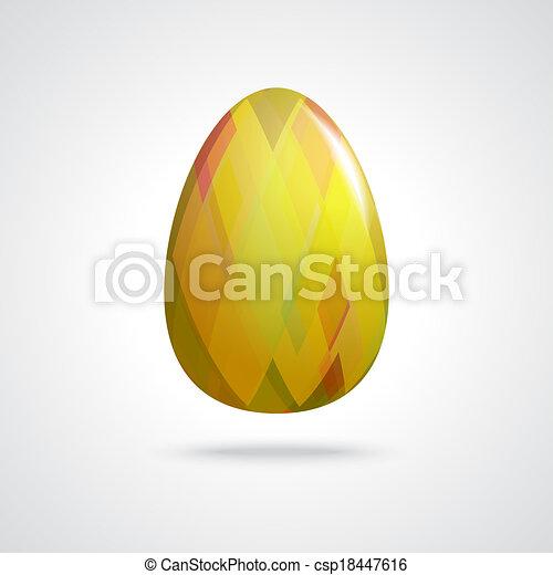 Golden Easter Egg - csp18447616