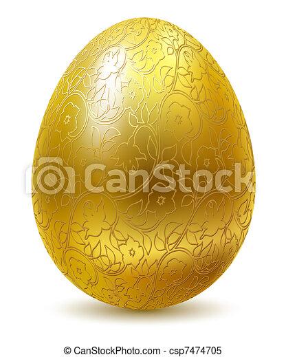 Golden egg. - csp7474705