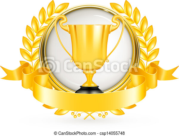 Golden Emblem, vector - csp14055748
