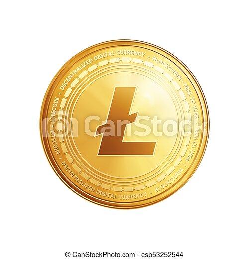 Golden Ethereum Blockchain Coin Symbol