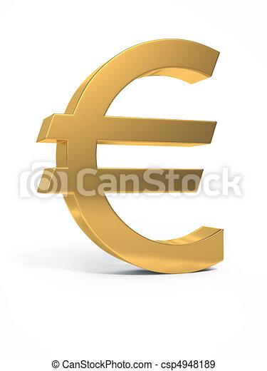 Golden euro sign. - csp4948189