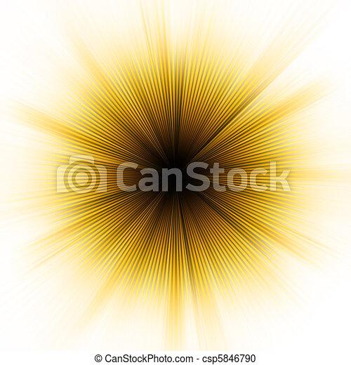 Golden explosion of light. EPS 8 - csp5846790