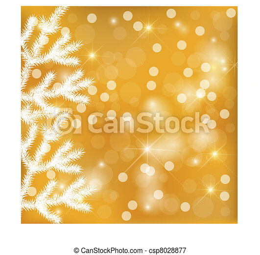 Golden festive lights background - csp8028877