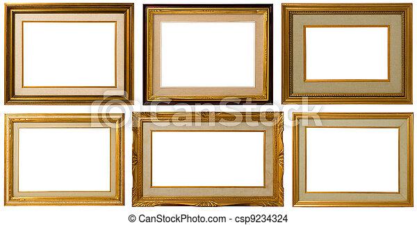 Golden frame Collection. - csp9234324