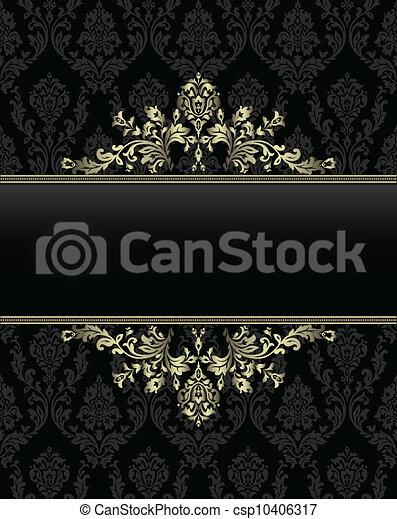 golden frame on seamless baroque ba - csp10406317