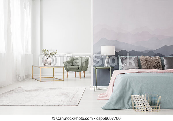 Golden frame table and armchair - csp56667786