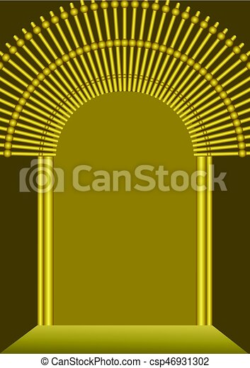 Golden gate background with blank place for own message luxurious golden gate background with blank place for own message luxurious template for religion celebration invitation announcement vector eps 10 stopboris Images