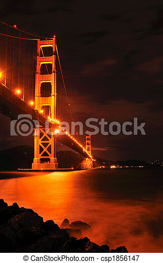 Golden Gate Bridge at Night - csp1856147