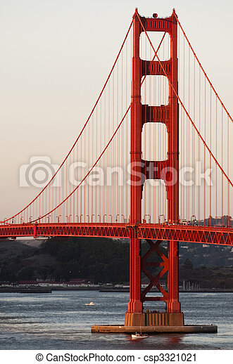Golden Gate Bridge at sunset - csp3321021