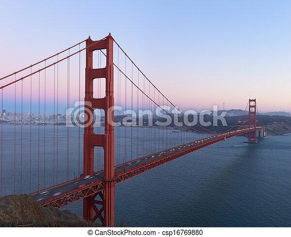 Golden Gate Bridge at Sunset - csp16769880