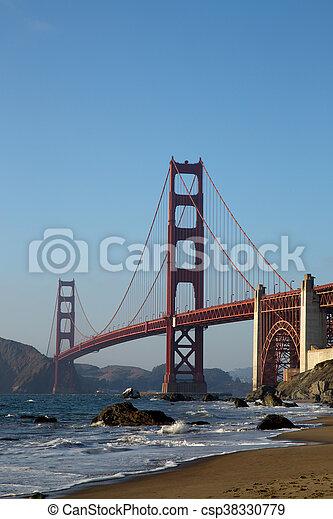 Golden Gate Bridge at Sunset, San Francisco - csp38330779