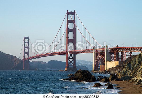 Golden Gate Bridge at Sunset, San Francisco - csp38322842