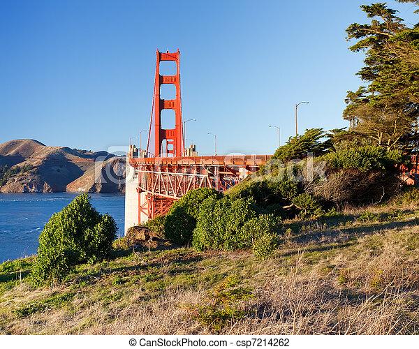 Golden Gate Bridge at sunset, San Francisco - csp7214262