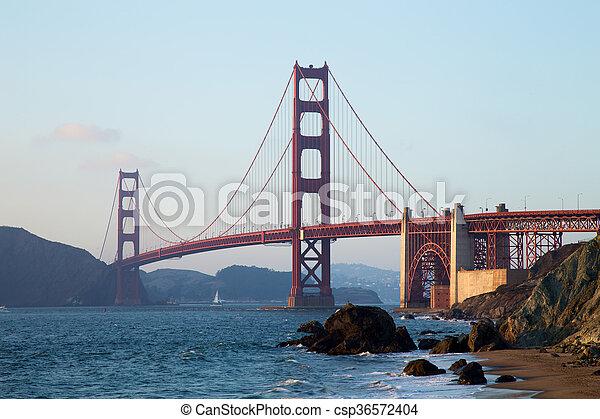 Golden Gate Bridge at Sunset, San Francisco - csp36572404