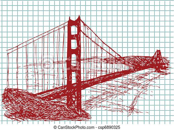 golden gate bridge - csp6890325