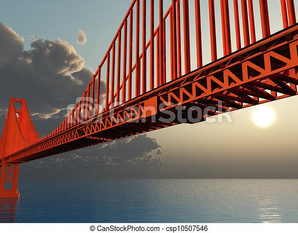Golden Gate Bridge Illustration - csp10507546