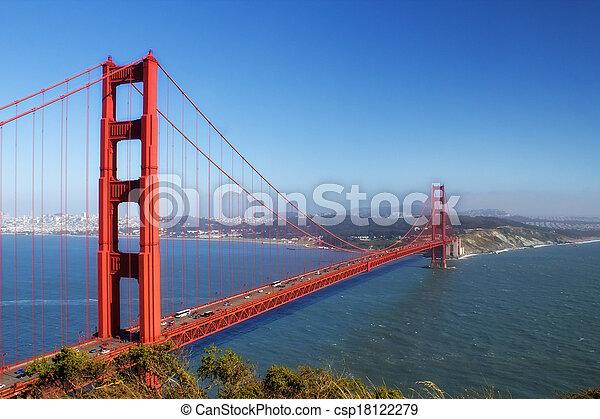 golden gate bridge - csp18122279