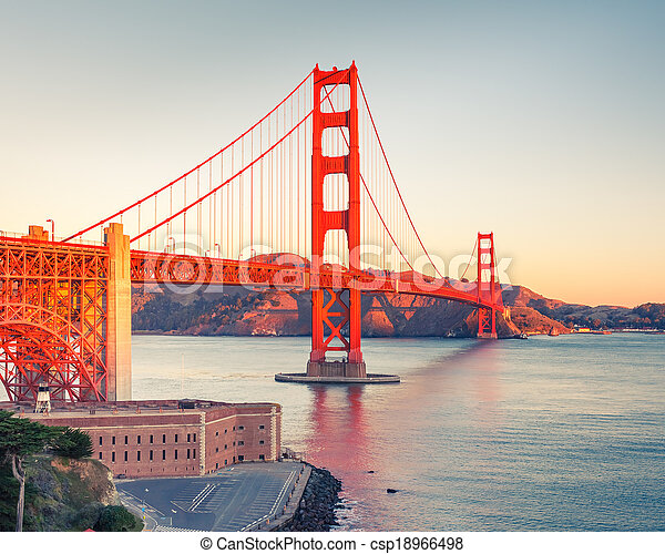 Golden Gate Bridge - csp18966498