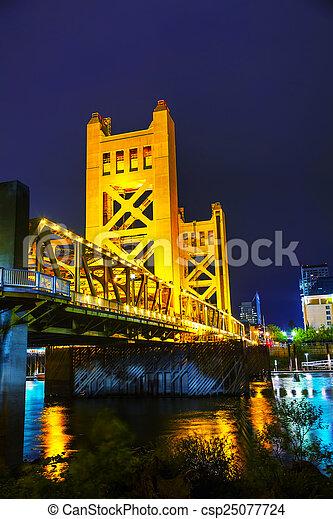 Golden Gates drawbridge in Sacramento - csp25077724