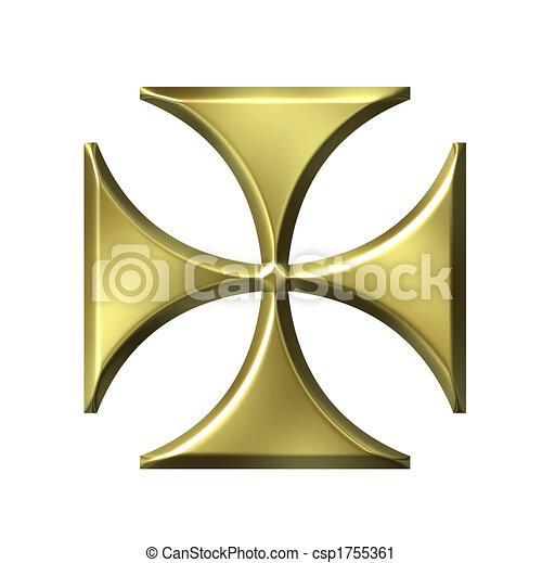 Golden German Cross - csp1755361