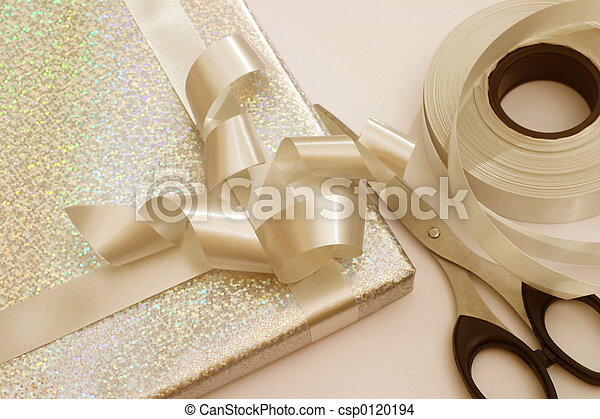 Golden gift wrapping - csp0120194