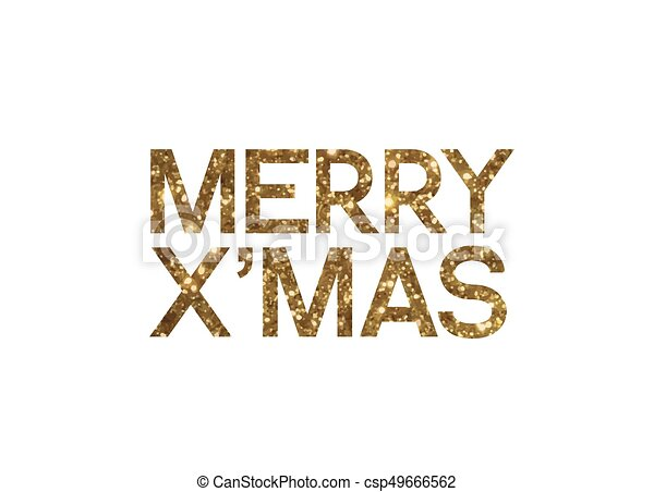 Merry Christmas Writing.Golden Glitter Of Isolated Hand Writing Word Merry Christmas