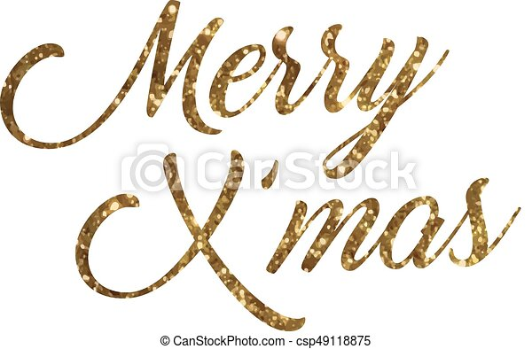 Merry Christmas Writing Images.Golden Glitter Of Isolated Hand Writing Word Merry Christmas