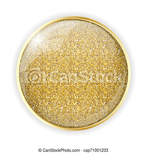 Golden Glossy Application Icon Template Illustration - csp71001233