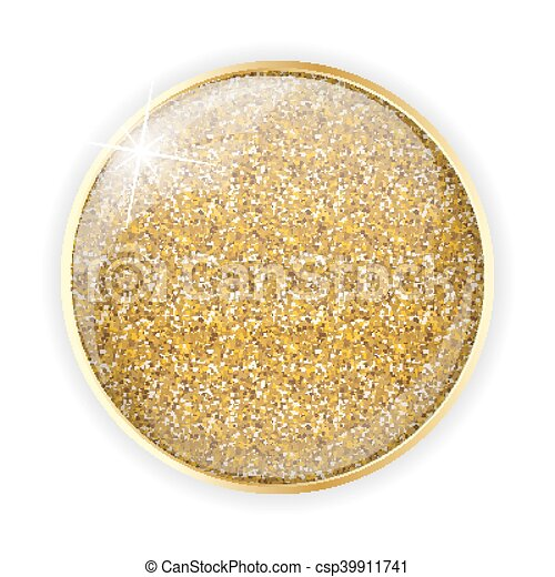 Golden Glossy Application Icon Template Vector Illustration - csp39911741