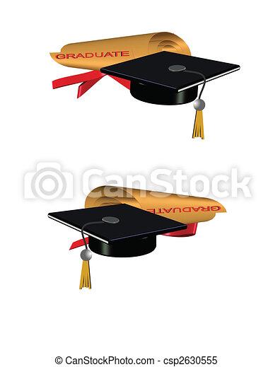 golden grad roll diploma - csp2630555