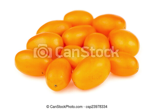 Golden grape tomatoes - csp23978334