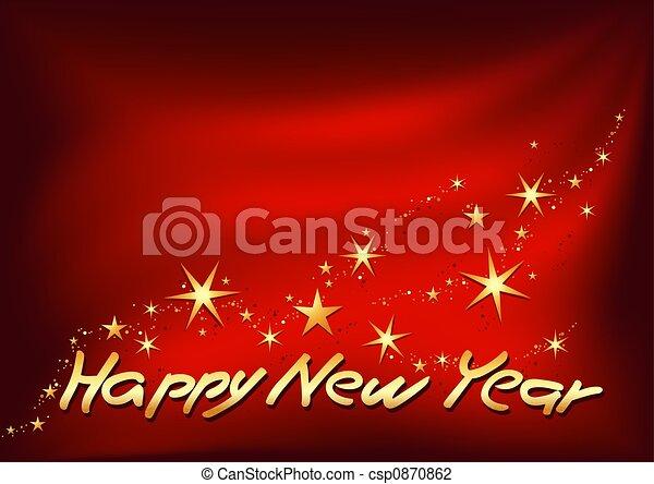 Golden Happy New Year - csp0870862