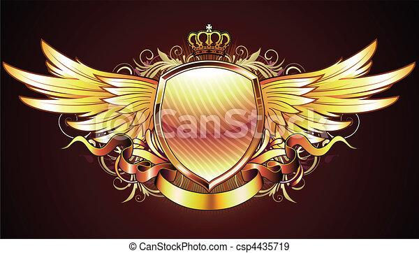 golden heraldic shield - csp4435719