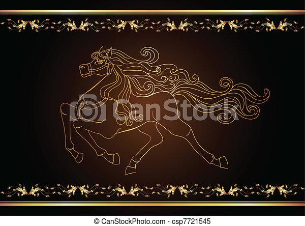 Golden horse - csp7721545